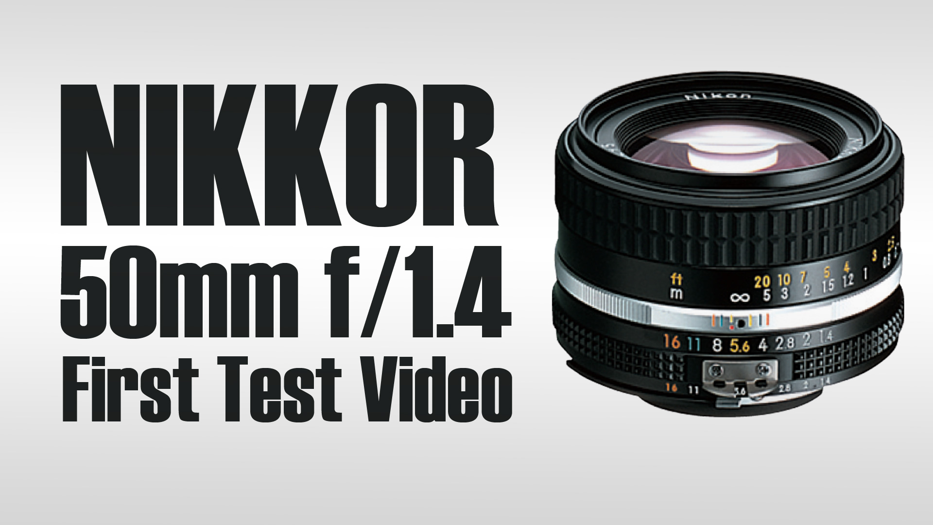First Nikon Nikkor 50mm f/1.4 Test and Overview