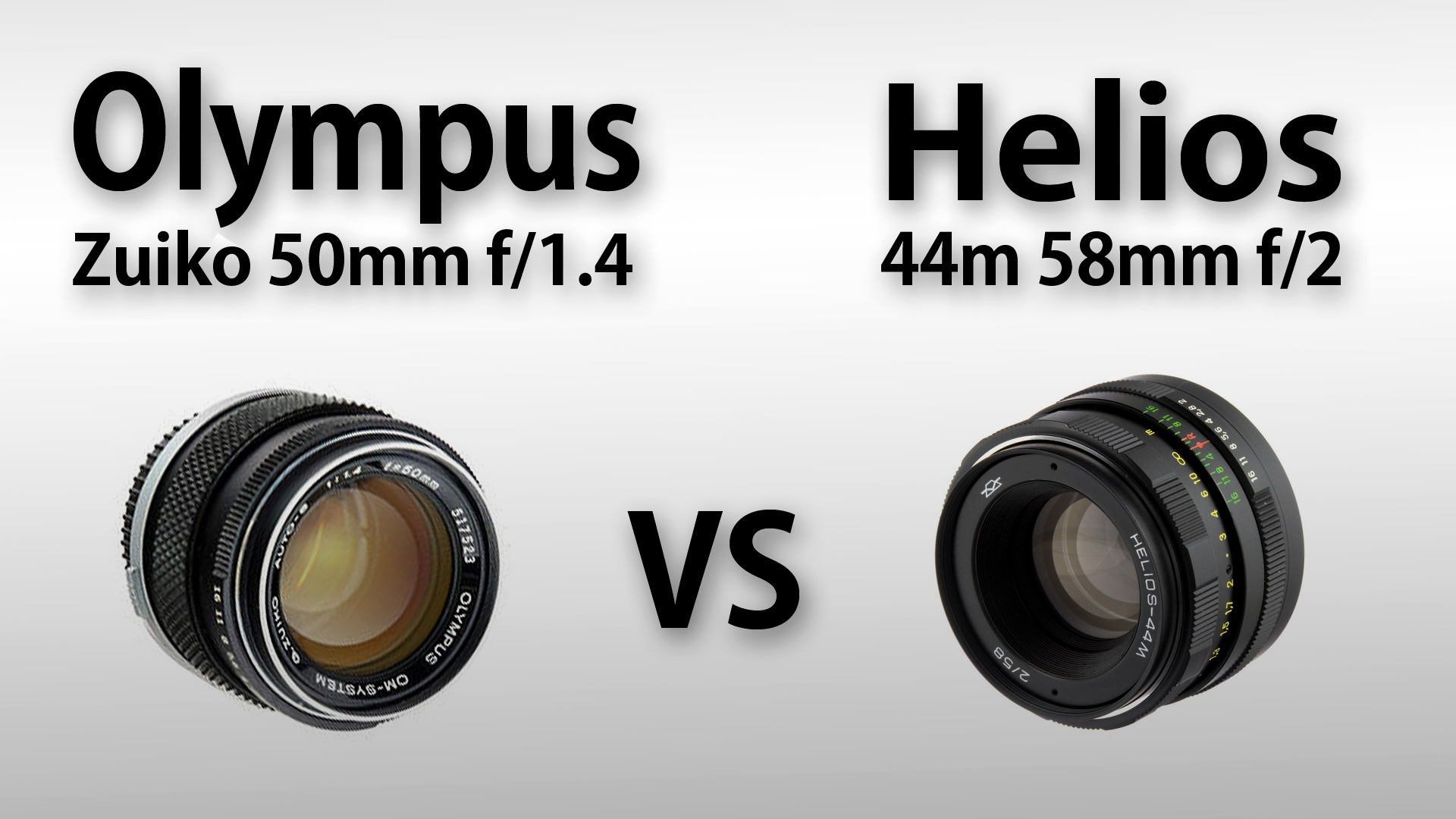 Olympus Zuiko 50mm f/1.4 vs Helios 44M 58mm f/2