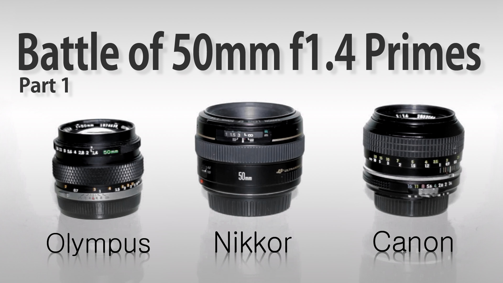 BATTLE of 50mm f/1.4 PRIMES. Olympus vs Canon vs Nikon
