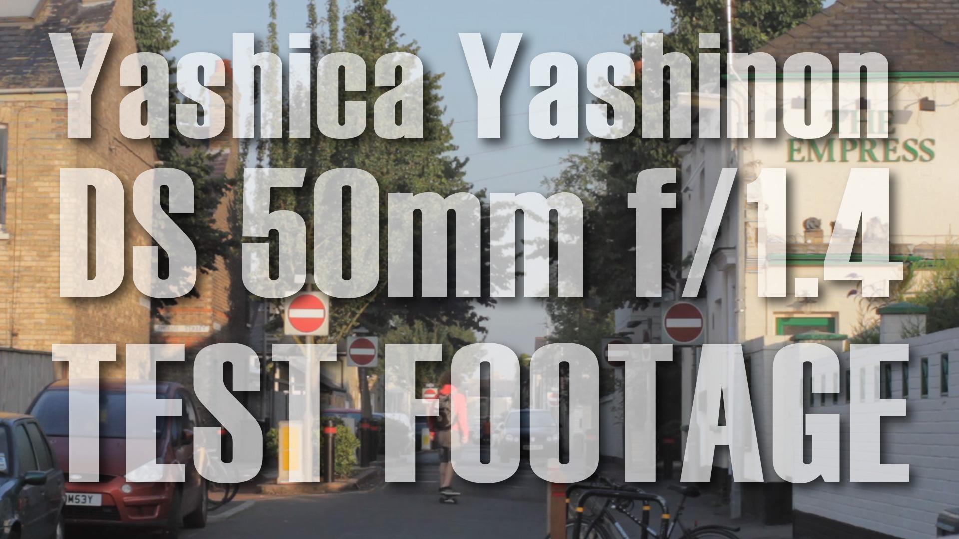 Yashica Yashinon DS 50mm f/1.4 Lens TEST FOOTAGE