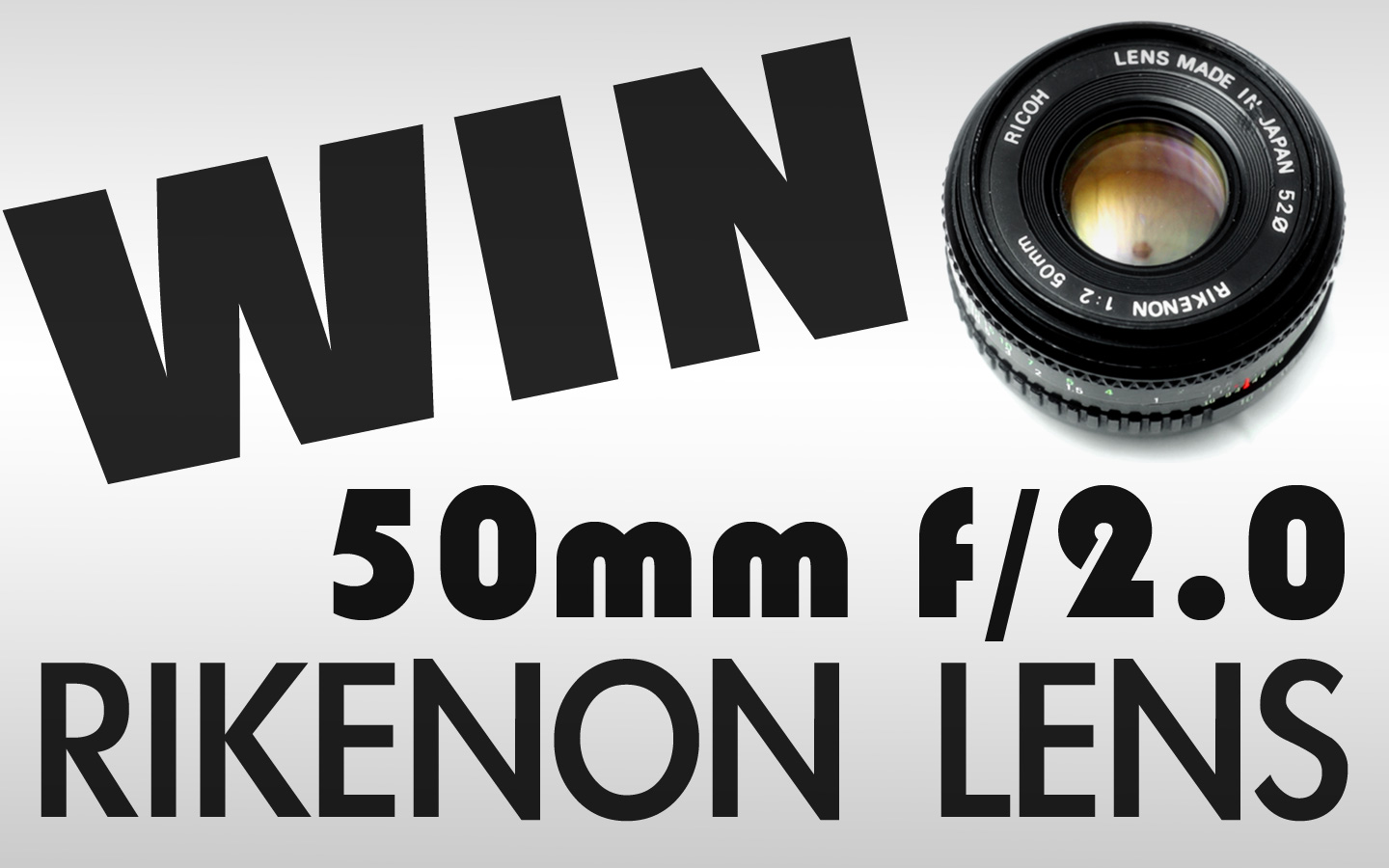 WIN Rikenon 50mm f/2 Prime Lens | February Vintage Lens Giveaway