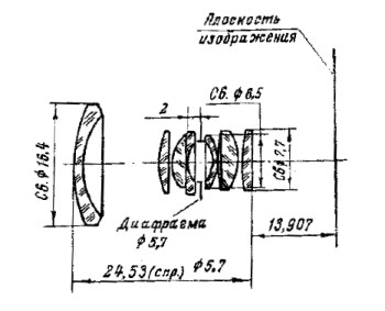 Mir-11 12.5mm Optical Formula