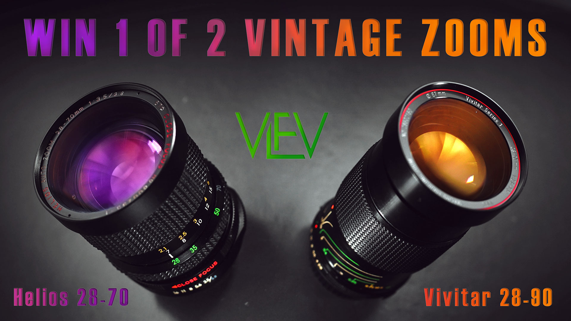 WIN 1 of 2 Vintage Zoom Lenses | Helios & Vivitar