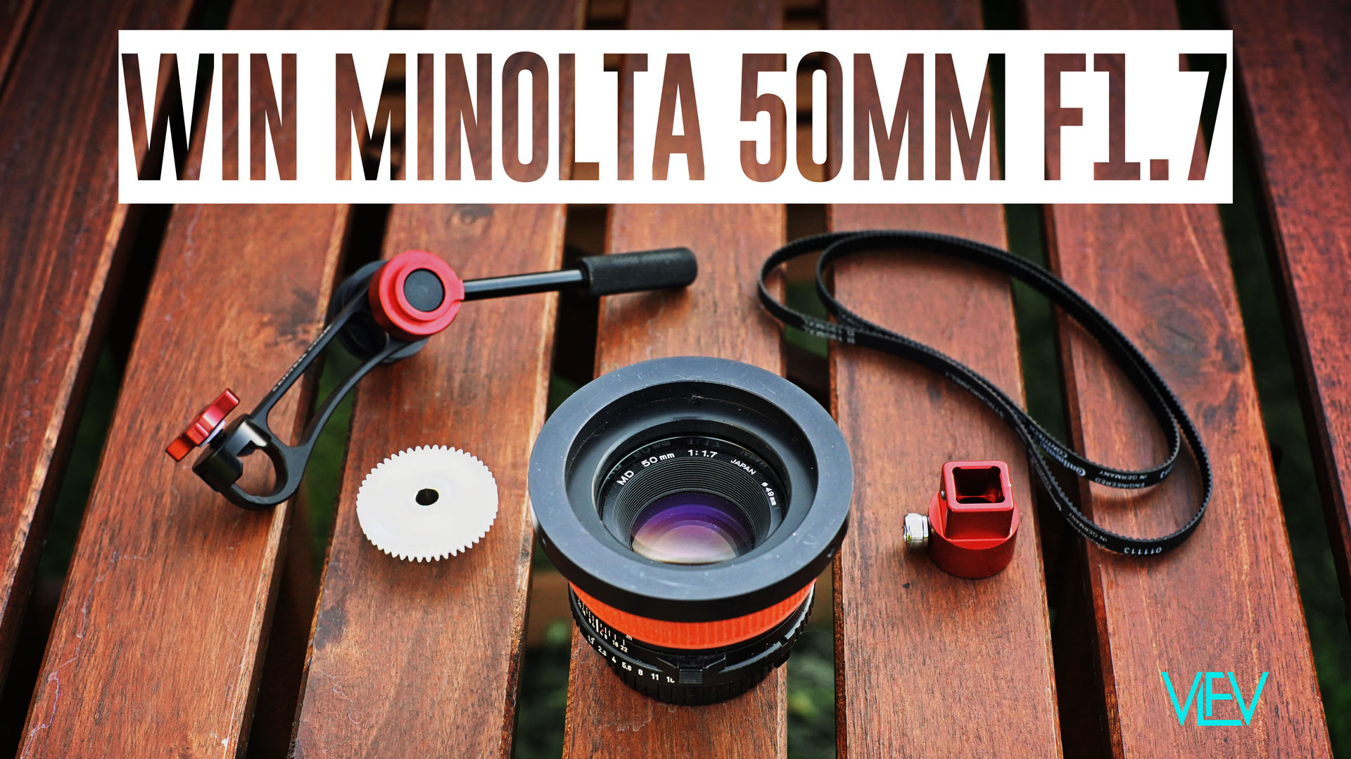 WIN Minolta 50mm F1.7 + Mini Follow Focus & 80mm Front!