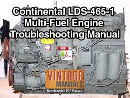 Continental LDS-465-1 Multi-Fuel Engine Troubleshooting Manual