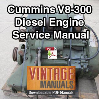 Cummins V8-300 Diesel Engine Service Repair Manual