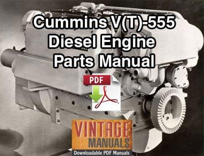 Cummins V555, VT555 Diesel Engine Parts Manual