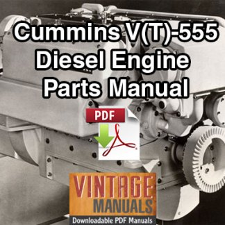 Cummins V555, VT555 Diesel Engine Parts Manual
