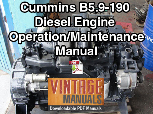 Cummins B5.9 190hp Diesel Engine Operation & Maintenance Manual
