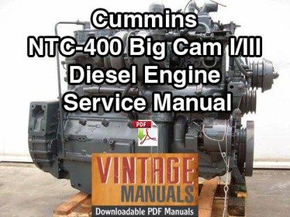 Cummins NTC-400 Big Cam I and III