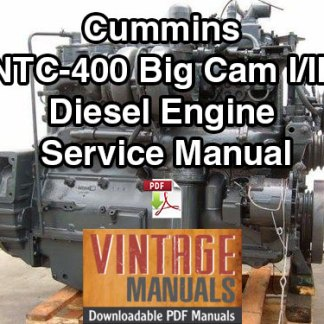 Cummins NTC-400 Big Cam I and III