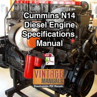 Cummins N14 Diesel Engine Complete Specifications Manual