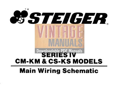 Steiger Series IV CMKM, CSKS Tractor Electrical Wiring