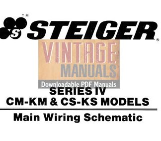 Steiger Series IV CM-KM, CS-KS Tractor Electrical Wiring Diagram