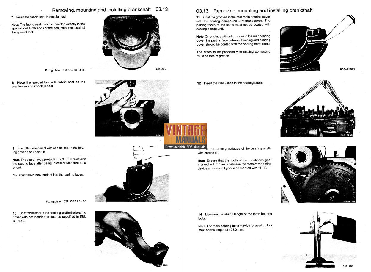 mercedes benz om352 om353 om362 engine workshop manual rh vintagemanuals net Pdffiller.com Engine Repair Receipts Diesel Engine Repair Manuals
