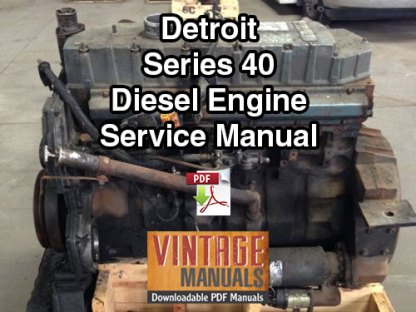 Detroit Series 40 Diesel Engine Service Manual