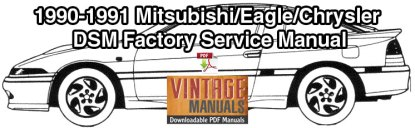 1990-1991 Mitsubishi Eclipse, Eagle Talon, Plymouth Laser Service Manual
