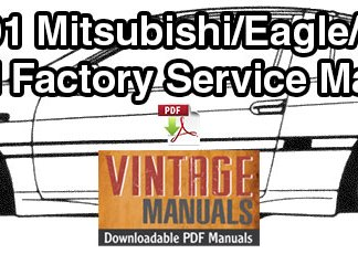 1990-1991 Mitsubishi Eclipse, Eagle Talon, Plymouth Laser Service Manual
