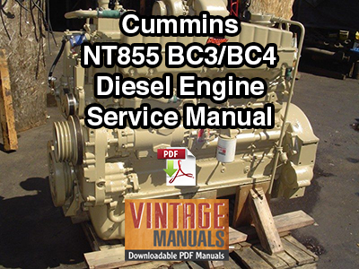 Cummins NT855 Big Cam III, IV Diesel Engine Service Manual
