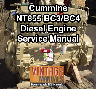 Cummins NT855 Big Cam III, IV Diesel Engine Service Manual