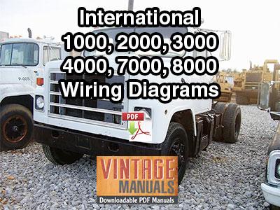International 1000, 2000, 3000, 4000, 7000, 8000 Truck Wiring Diagram PDF 1988