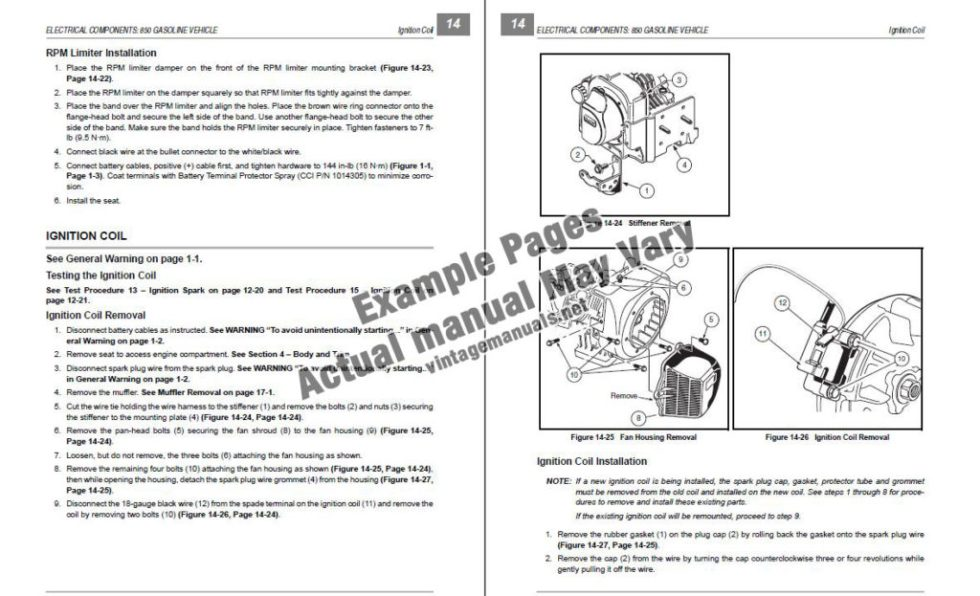Club Car Service Manual Example Pages PDF
