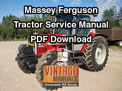 Massey Ferguson Tractor Service Manual PDF Download