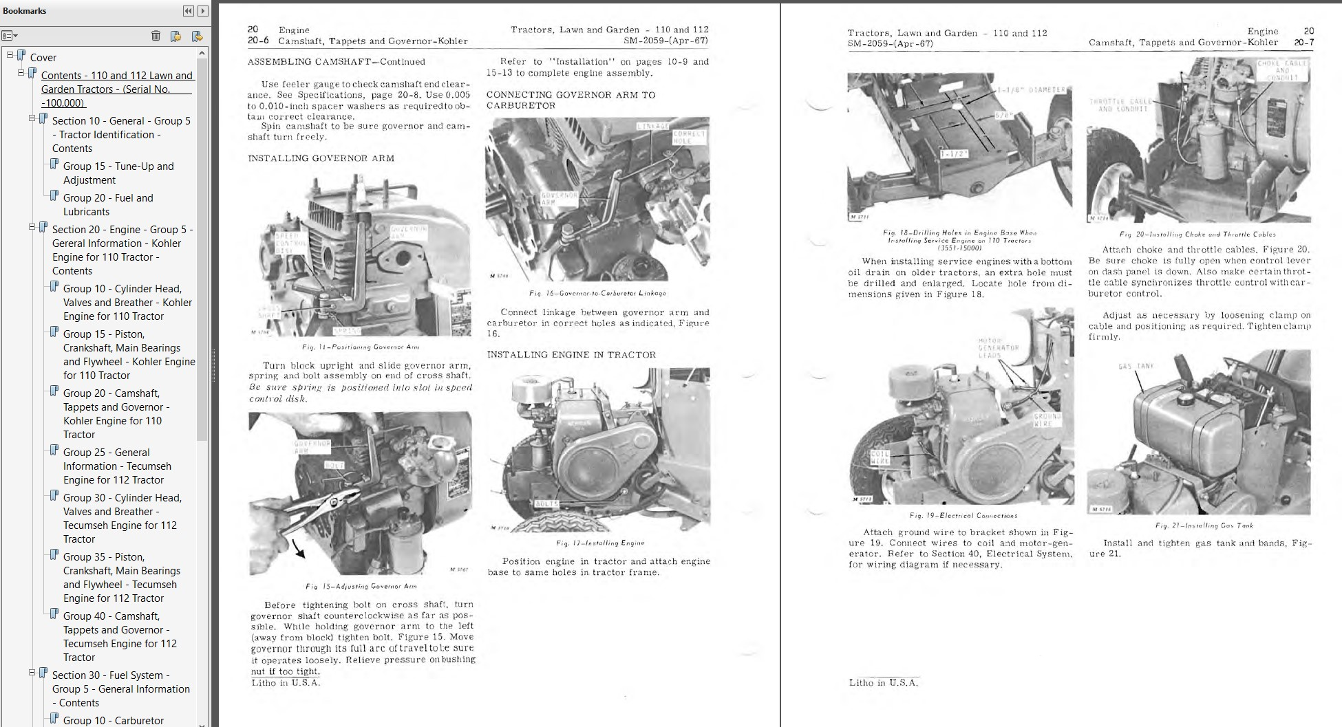 SERVICE MANUAL FOR JOHN DEERE 112 LAWN MOWER GARDEN TRACTOR HH100 ENGINE