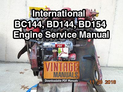 International BC144, BD144, BD154 Engine Service Manual