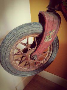 wiel MG step, vintage step, vintage met lef