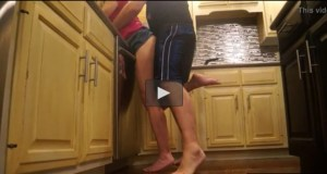 Male Can't Wait For Fucking a Charming Milf in the Kitchen [Amateur]