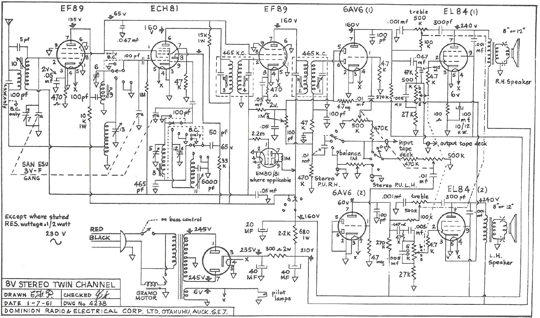 8 Audio Schematics