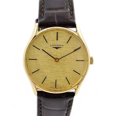 Vintage Longines Classic Gold Plated Hand Wind Midsize Watch