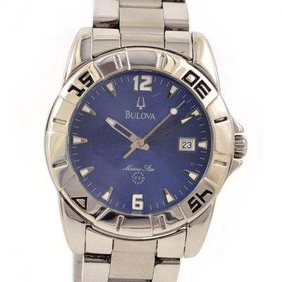 Bulova Marine Star 100m Date Stainless Steel Quartz Men's Diver Watch
