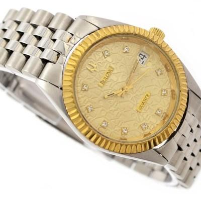 Bulova Date Quartz Midsize Watch velvet gift box
