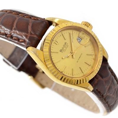 Bulova Super Seville Ladies Automatic Watch brown strap