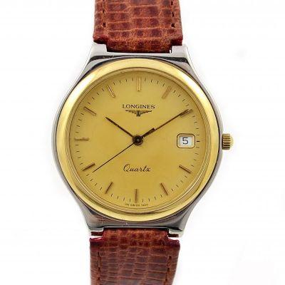 Longines Flagship Date 18kgp/Stainless Steel Quartz Midsize Dress watch
