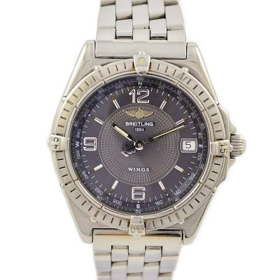 Breitling Wings A10050 Automatic Mens Stainless Steel Watch 1990