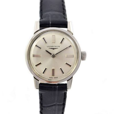 Vintage Longines Classic Stainless Steel Hand Wind Ladies Watch