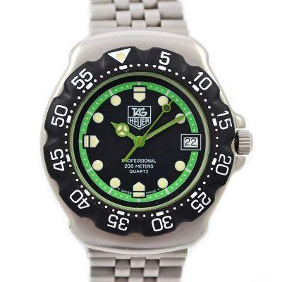 Vintage Tag Heuer F1 Quartz 375.513 Stainless Steel Midsize Watch