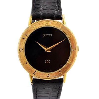 Vintage Gucci 3300.2.M Gold Plated Quartz Midsize Watch