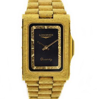 Vintage Longines Classic Rectangular Quartz Gold Plated Midsize Watch