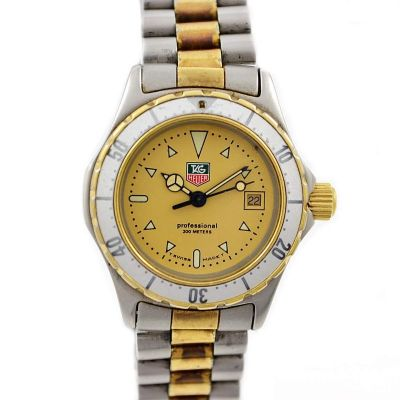 Vintage Tag Heuer 2000 Series 974.008 Quartz Two Tone Ladies Watch original