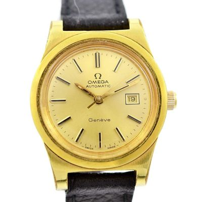 Vintage Omega Geneve Cal.684 Gold Plated Automatic Ladies Watch womens
