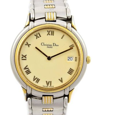 Pre-Owned Christian Dior Paris Date Midsize Quartz Watch 45.146 women