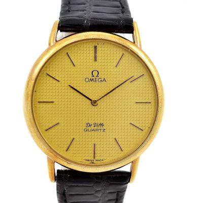Vintage Omega De Ville Quartz Cal.1351 Gold Plated Midsize Watch battery