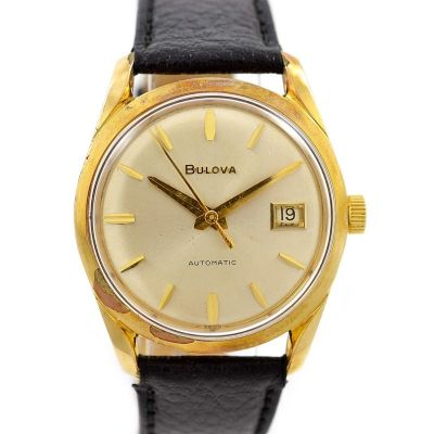 Vintage Bulova Classic Automatic Midsize Gold Plated Watch mens