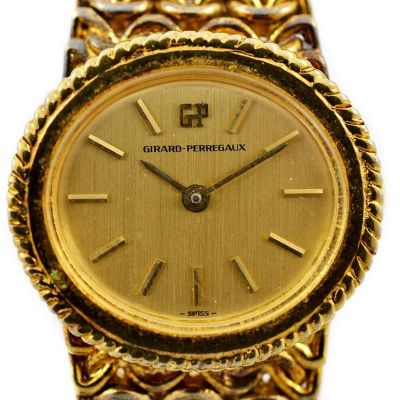 Vintage Girard Perregaux Gold Plated Hand Wind Ladies Watch swiss