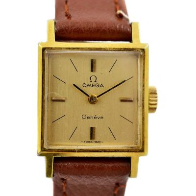 Vintage Omega Geneve Cal.485 Hand Wind Gold Plated Ladies Watch