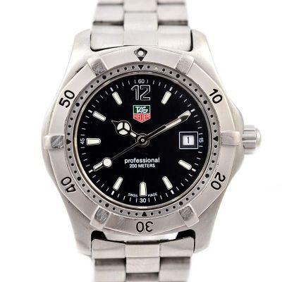 Vintage Tag Heuer 2000 Series WK1310-0 Quartz Stainless Steel Ladies Watch